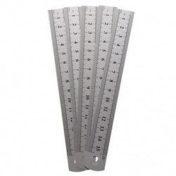 5 db kétoldalas oldaljelzésű, 15 cm-es 6 hüvelykes rozsdamentes acél egyenes vonalzó J3A