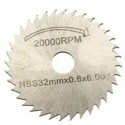 6 db-os készlet HSS fűrészlap kör alakú meghajtó, Decoupe Dent, a Z1I8 forgószerszámhoz