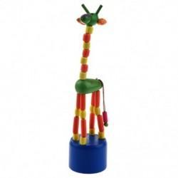 Gyerek fejlesztő játék baba táncoló hintaló álló színes zsiráf fa Q7C9