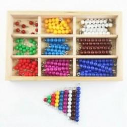 Montessori gyöngy doboz Montessori anyagok fából készült színes gyöngyök óvodai Se I8B4