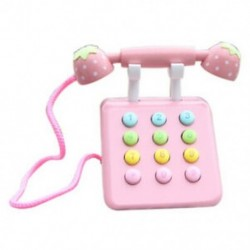 Rózsaszín - Lány játékok telefon eper szimuláció rózsaszín telefon bútor fajátékok C8Q3