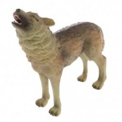 I5F6 Reális üvöltő farkas vadállatfigura-modell Akciófigura Gyerekjáték GIF
