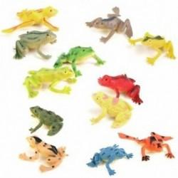 Kis műanyag béka Reális szimulációs dekoráció Gyerekjátékok 12 db Y5P1