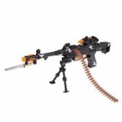 1X (ÚJ JÁTÉKOS KIDS katonai asszisztens gép fegyver hangos villogó lámpákkal GI D4S2