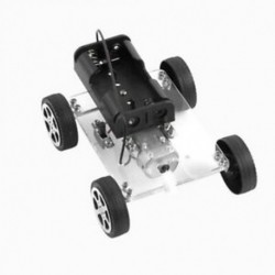 Elektromos játék mini autós összeszerelési technológia kézzel készített tudományos kísérlet B1O9
