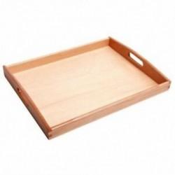 1X (kis Montessori téglalap tálca kockagyöngyök játéktartó fogantyúval T9N6)