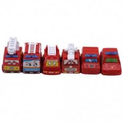 6 db vonzó hátsó autójátékok Tűzmodell Mini autók Versenyautó móka Vicces Y3I9