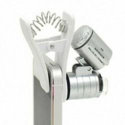 1 db univerzális 3LEDs klip mobiltelefon mikroszkóp nagyító mikrolencsével 60X E3G9