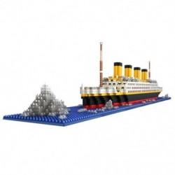 1860 db 3D-s puzzle építőblokk oktatási játékok Hajómodellek Children`st A8I1