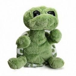 Zöld nagy szemű töltött teknős teknős baba plüss játék ajándék N1S1