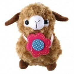 barna - 1X (Alpaka-bárány plüss játékkrém Arpakasso Llama Doll-kitömött állat T2J6)