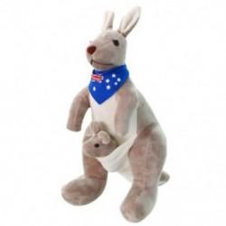Édes kenguru töltött állati puha plüss babajátékok baba gyerekeknek (kék) F8U6