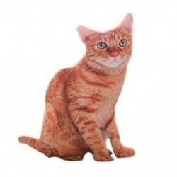 Narancs és barna - 1 db 50 cm-es szimulációs plüss macska párnák puha, kitömött állatok párna-kanapé, december I3V7