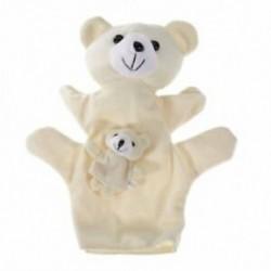 Bézs medve kézbáb ujjbábok A5Q3 D2V4 T7E2