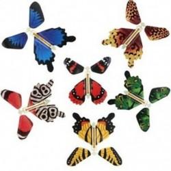 Fém konzolos pillangó gumiszalaggal teljesítő felfújható pillangó játék (6 db) E2M9