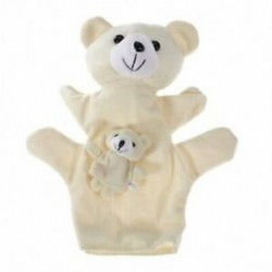 2X (bézs medve kézbáb ujjbábok F1I7)