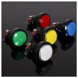 45MM világító LED-es világítású, 5 színű arcade videojáték nagy kerek nyomógombbal E2W1
