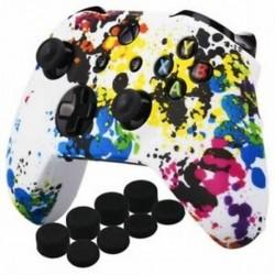 Szilikon borító bőr tok nyomtatása az Xbox One S / X vezérlő x 1 (Graffiti) W2Q8-hoz
