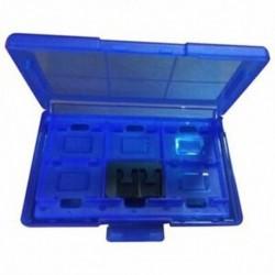 2X (12 az egyben műanyag védőtok, játékkártya tárolódoboz kapcsolóhoz - kék O1D8)