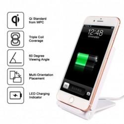 Qi T100 3 Vezeték nélküli töltő LED kijelző Összecsukható USB interfész Samsung Galaxy S7 S8 iPhone