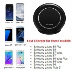 Gyors Qi vezeték nélküli töltőpad Gyors töltő Samsung S8 Plus  S8  S7 Edge  S6 5 iPhong 8 X