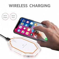 Hexagon vezeték nélküli gyors töltő dokkoló Power Pad iPhone 8/8 plus / iPhone X készülékhez