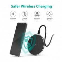 Qi vezeték nélküli gyors töltő dokkoló tápegység iPhone 8/8 plus / iPhone X