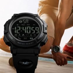 SKMEI férfi vízálló Bluetooth lépésszámláló kalória Sport digitális óra karóra Telefon Mate Android