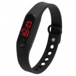 LED női női férfi sport karkötő óra gumi digitális karóra BT