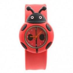 Gyerek fiú lány katicabogár imádnivaló rajzfilm szilikon óra - Szín: piros BT H2F6