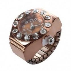 Rose arany kerek fém zseb ujj gyűrű karóra E4O3