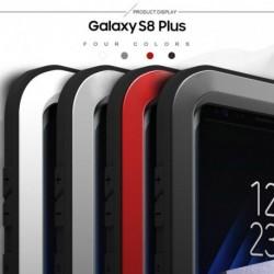 Love Mei Alumínium Fém Gorilla Üveg Ütésálló Vízálló tok Samsung Galaxy S8 Plus
