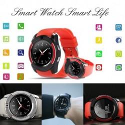 V8 vezeték nélküli Smart Watch óra karóra telefon érintőképernyő Bluetooth csuklóóra Android iPhone