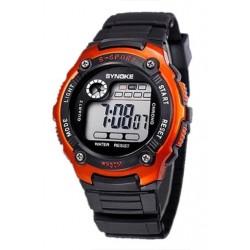 SYNOKE multifunkciós Unisex sport digitális órák, narancssárga W7K2 G6R5