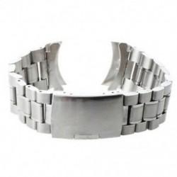 Cserepánt karkötő karóra 24mm acél fém ezüst színű Fashion G2P2 E8T5