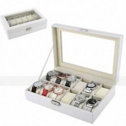 Óratartó doboz tok (fehér, 12 rács) Q2W8