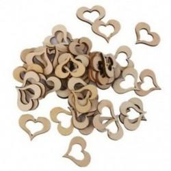 50x fa szív alakú szeletlemez DIY kézműves mini díszes esküvői De U8Q4