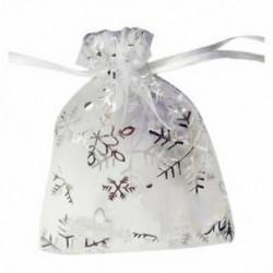 100 PCS Organza esküvői ajándék táska húzózsinórral ékszer tasak táskák ezüst fikarcnyi W1F1