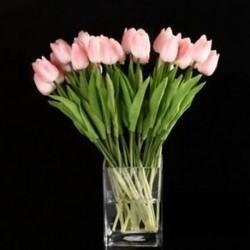 10db tulipán virág latex valódi érintés az esküvői csokor dekorációhoz. Legjobb minőségű P3Z6