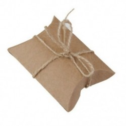 1X (50 db ajándék ajándékdoboz doboz párna doboz esküvői születésnapi barna V2M9)