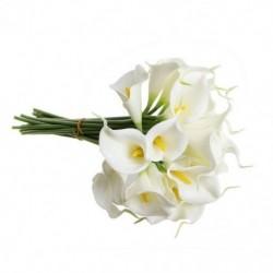 1X (Calla Lily menyasszonyi esküvői csokor 20 fejű latex Real Touch Z1T3)