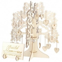 Családfa esküvői vendégkönyv, 3D-s fa vendégkönyv - Rusztikus esküvői Pa Z1V1