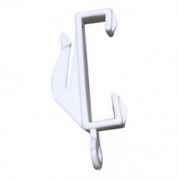 1X (20X-os fehér műanyag kendőfüggöny-siklóernyők - Fehér sínű futóhorog M6Q8)