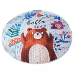 Gyerekek játszanak szőnyeg aranyos rajzfilm medve szőnyeg hátulról nagyszerű óvodai baba, Parfect H0Y8