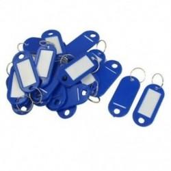 1X (20 db kulcsazonosító címke címkék Osztott gyűrű kulcstartó kulcstartó kék A2Y3)