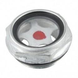 1X (26 mm-es belső menetes fém légkompresszor olajszintű látóüveg W6M8)