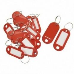 20 db kulcsazonosító címke Címkék Osztott gyűrű kulcstartó kulcstartó piros U8R4