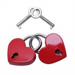 1X (2 darab kicsi, szív alakú lakatos mini zár) kulccsal az S Q1O3 ékszerdobozhoz