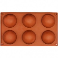 6 adagos Félgömb alakú szilikon sütőforma - F2M8
