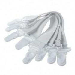 4 db otthoni fehér elasztikus matrac ágynemű markolat klipek I5R6